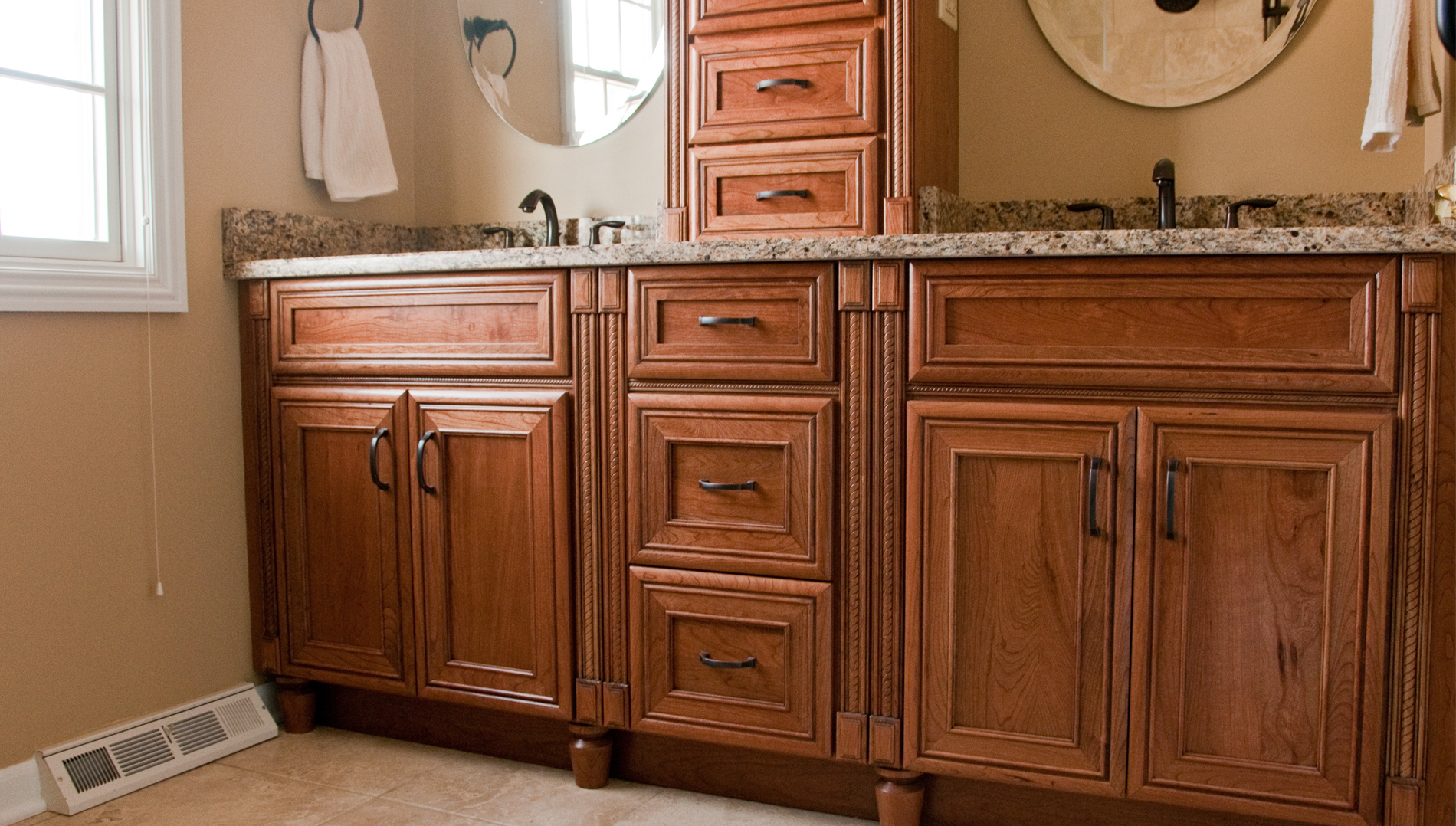Custom Bathroom Vanities Naperville custom cabinetry in the bathroom