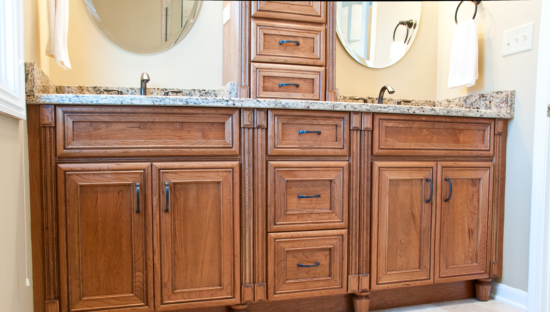 Custom 60 custom bathroom vanities naperville design for Custom bathroom vanity cabinets