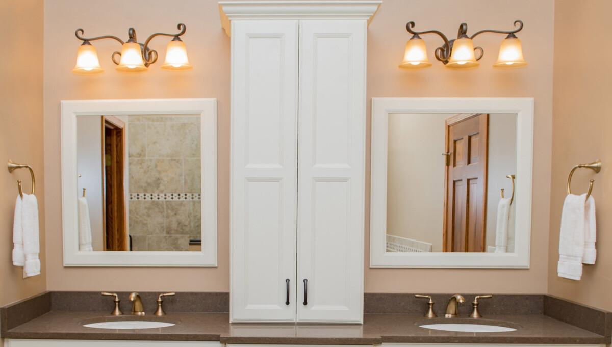 Oil rubbed bronze mirror bathroom