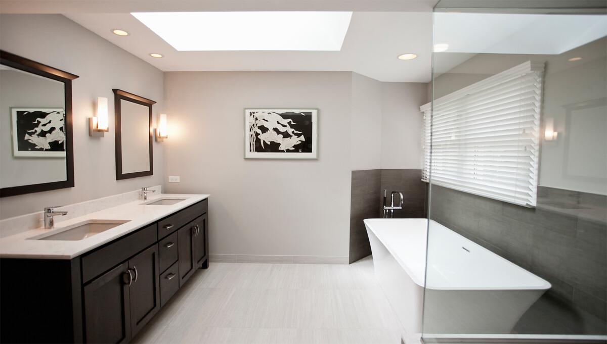 Spacious Serene Bathroom Remodeling