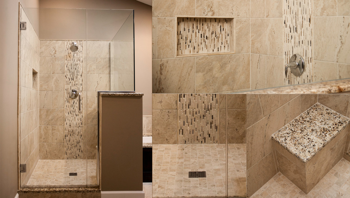 Modernized master bathroom designing remodeling naperville for Bathroom bath