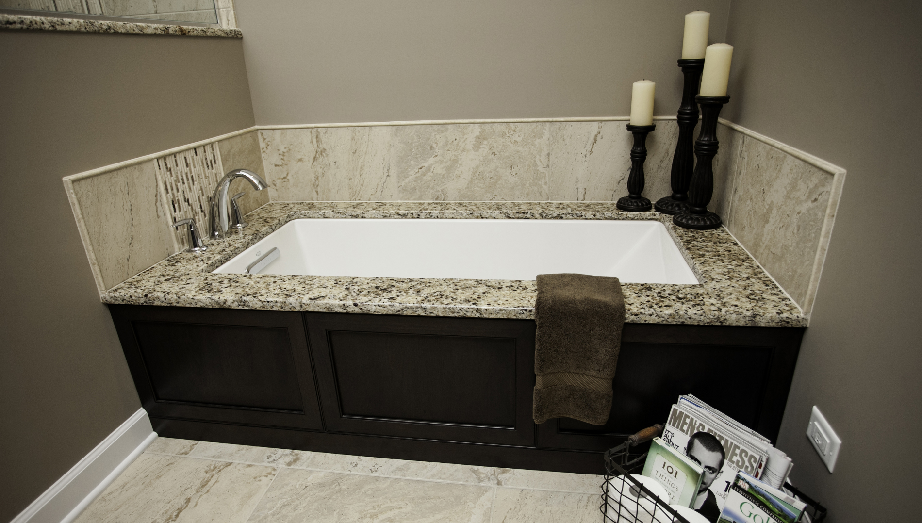 Modernized master bathroom designing remodeling naperville for Restroom tub
