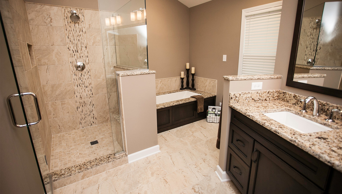 Modernized master bathroom designing remodeling naperville Tile in master bedroom closet