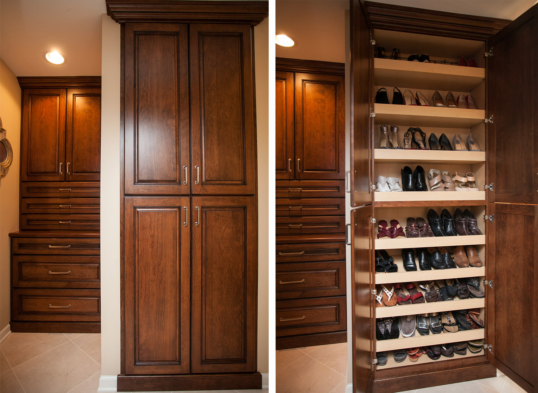 To Complete The Dressing Area Across From The Walk In Closet, Space Was  Allocated For A Shoe Cabinet. Itu0027s Certainly A Beautiful Little Luxury.